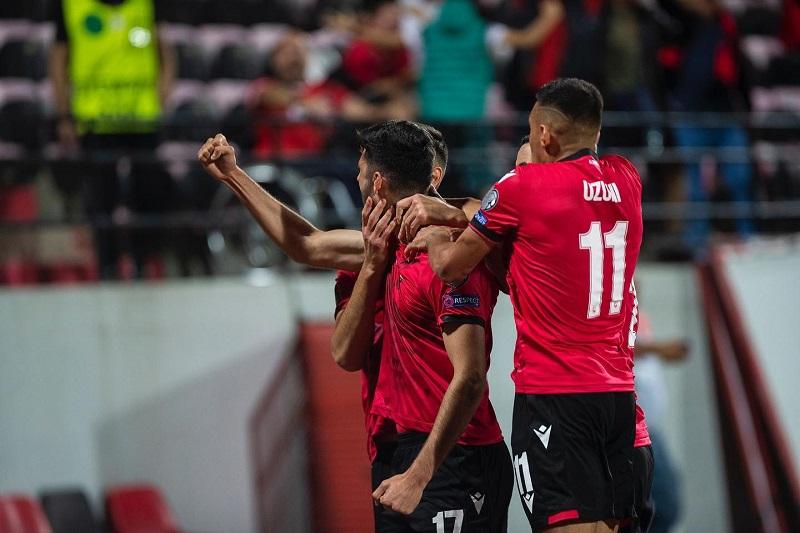Albania celebration vs Hungary