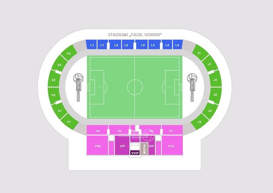 Fadil Vokrri Stadium seats & blocks