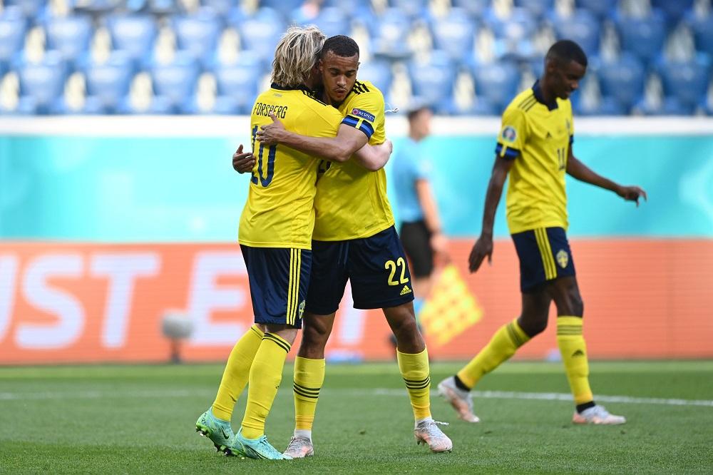 Sweden celebration of goal