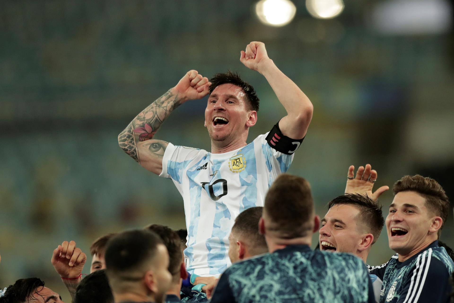 Lionel Messi Argentina celeb Copa America