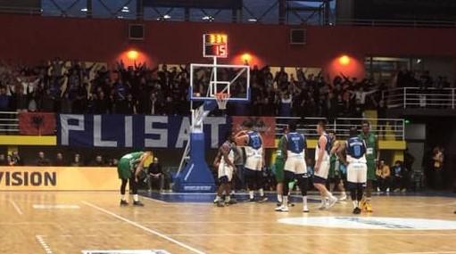 Prishtina vs Trepcha, basketball view far