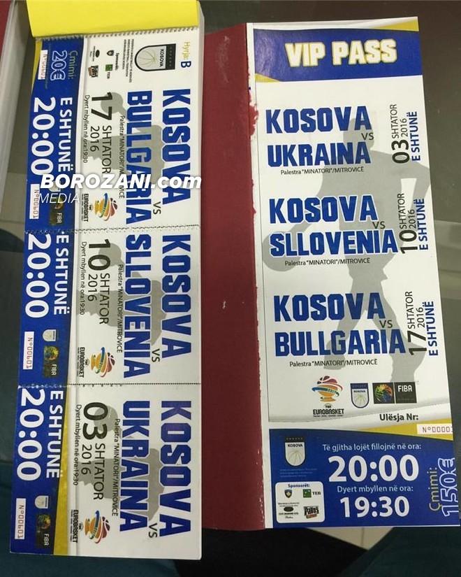 Biletat për ndeshjet e Kosovës, në shitje