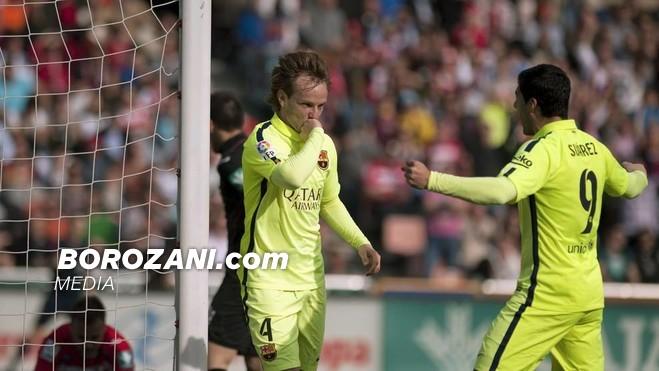 Rakitic e Suarez, me gol e asist në fitore