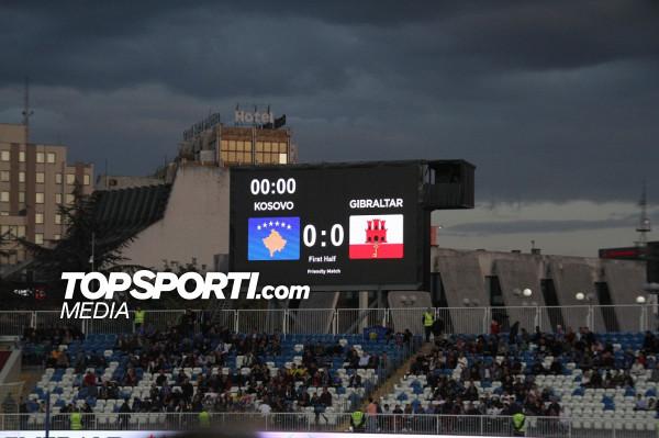 Kosova vs. Gjibraltari, mbyllet pjesa e parë