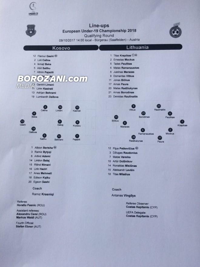 U19: Kosova - Lituania, 11-shet e para