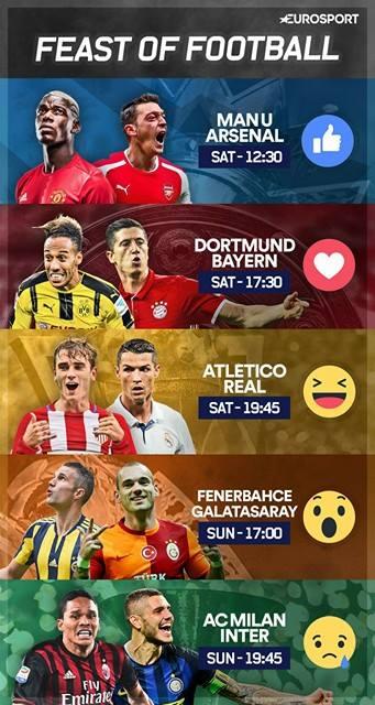 TOP 5 ndeshjet e fundjavës