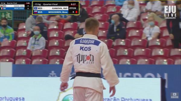 Akil Gjakova arrin gjysmëfinalen në Evropian