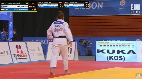 Afër edhe një medalje, Loriana Kuka arrin në gjysmëfinale
