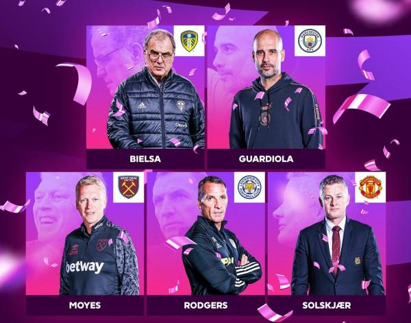 5 trajnerë në garë për trajnerin e vitit në Premier League