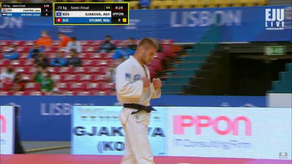 Akil Gjakova siguron medalje, arrin në finale të Kampionatit Evropian