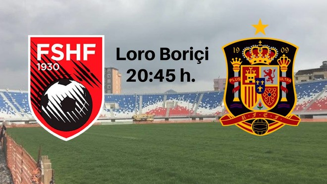 Formacionet zyrtare: Shqipëri-Spanjë