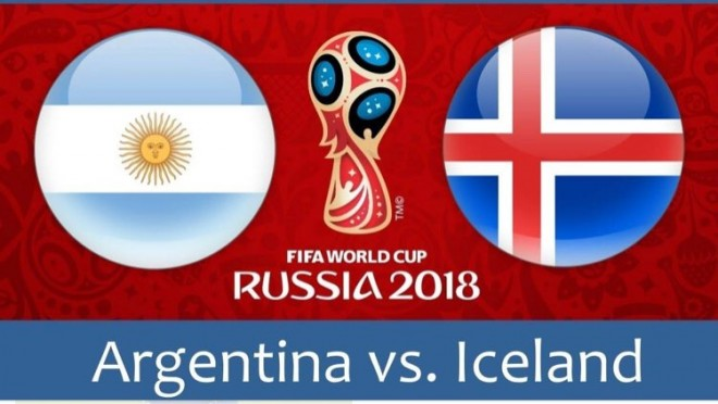 Argjentina vs. Islanda, formacionet startuese