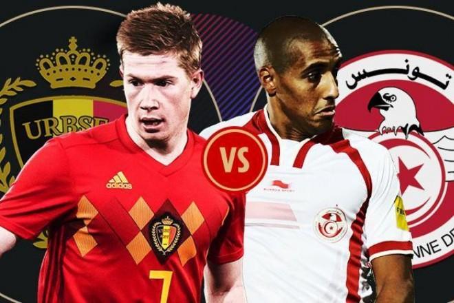 Formacionet: Belgjika - Tunizia