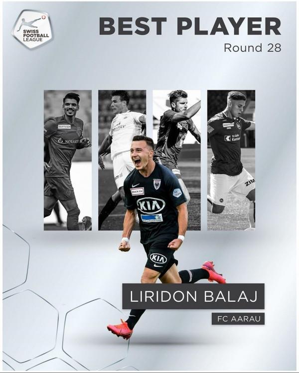 Liridon Balaj lojtari i javës në Challenge Ligën e Zvicrës