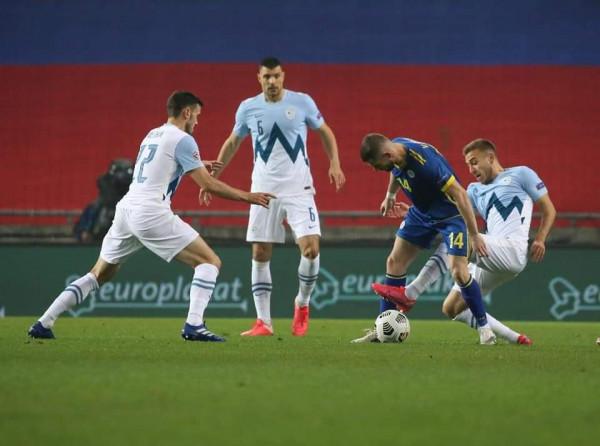 Sllovenia përmbys Kosovën falë penalltisë në minutën e fundit