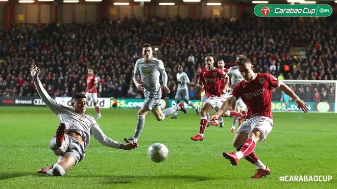 Befason Bristol, eliminohet United