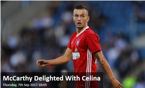 Mick McCarthy i kënaqur me paraqitjet e Celinës