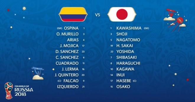 Kolumbia-Japonia, 11-shet startuese