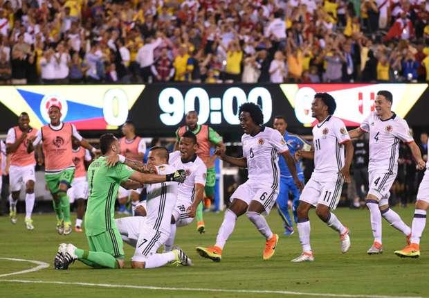 Kolumbia pas penalltive, në gj'finale