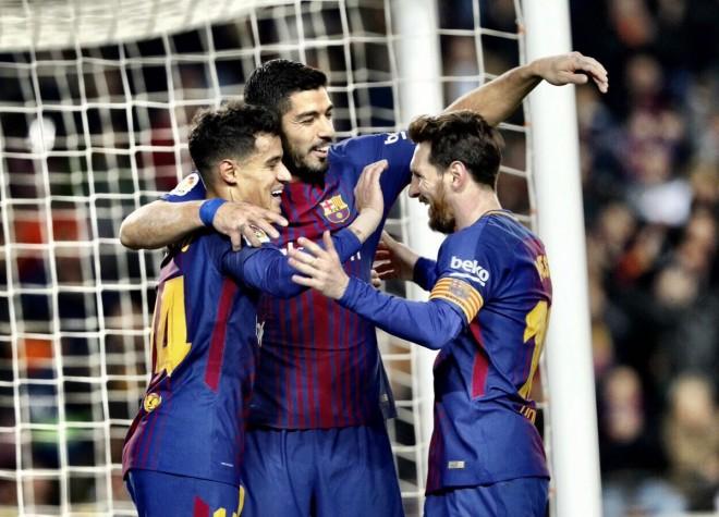 Suarez 3, Messi 2, Cou 1, Barcelona fiton