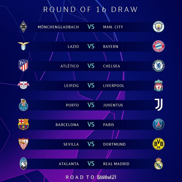 Shorti i TOP 16 në UEFA Champions League
