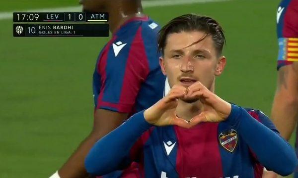 Enis Bardhi shënon ndaj Atletico Madridit