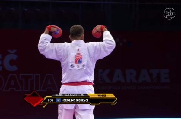 Herolind Nishevci fiton medalje të bronztë në Evropian