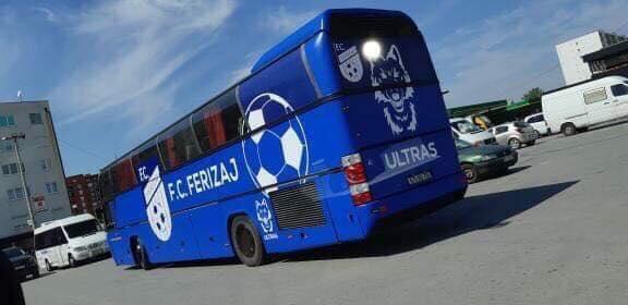 KF Ferizaji bëhet me autobus të ekipit