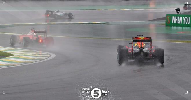 Ndërpritet gara, shi e aksidente në Brazil