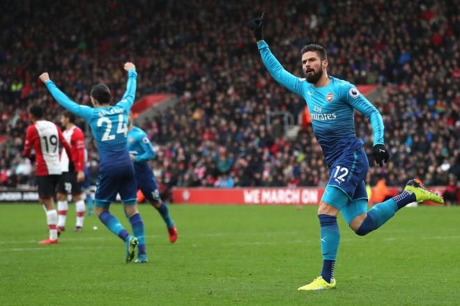 I inkuadruari Giroud shpëton Arsenalin