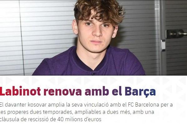 Labinoti bëhet 100 milionësh me Barcelonën