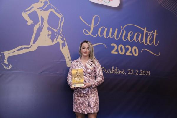 Distria Kransiqi, sportistja e vitit 2020 nga KOK