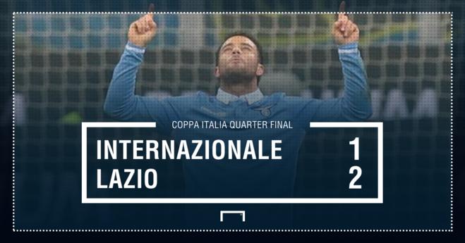 Prishet seria e Interit, Lazio në gjysmëfinale
