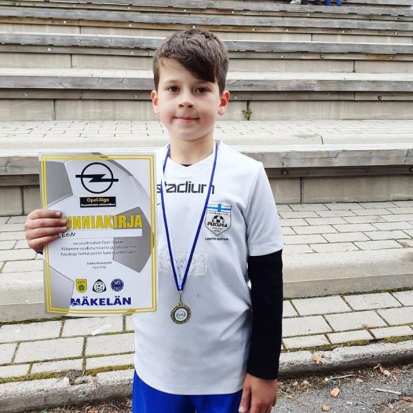 Leon Bucolli, 7-vjeçari me mbi 100 gola në Finlandë