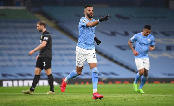 Mahrez me hat-trickun e parë, kthen Cityn te fitoret