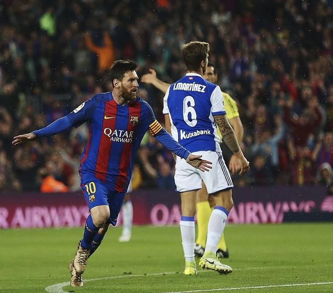 Messi me 2 gola e 1 asistim, për të ndjekur Realin
