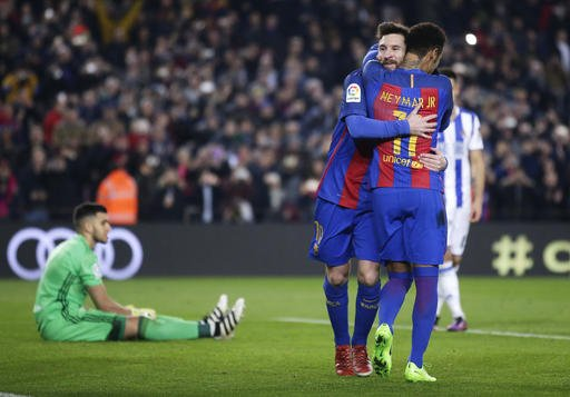 Barcelona pa probleme në gjysmëfinale