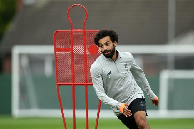 Lajm i mirë për Liverpoolin, Salah në stërvitje