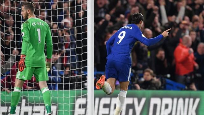 Morata vendos ndeshjen, United mposhtet në Londër
