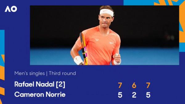 Nadal s'lejon befasi, arrin 1/8 e finales
