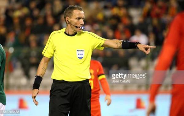 Izrael vs. Shqipëri, gjyqtarët e ndeshjes