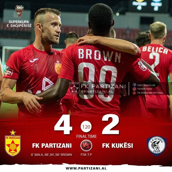 Brown vendos në vazhdime për Superkupën e Shqipërisë