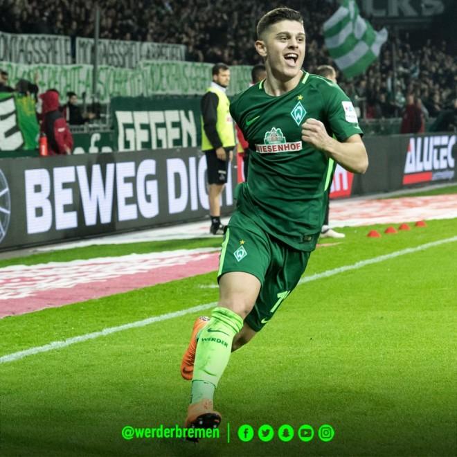 Rashica, shpëtimtari i Werderit. Shënon në fund për fitore
