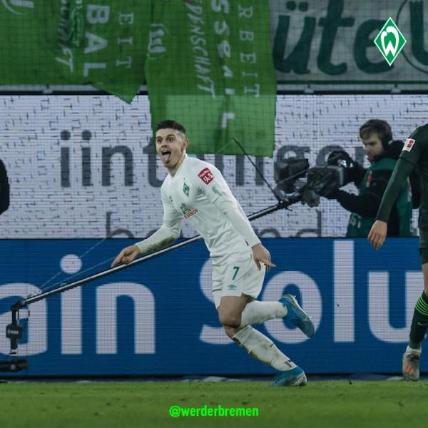 Milot Rashica i sjell fitoren e parë Werderit që prej shtatorit