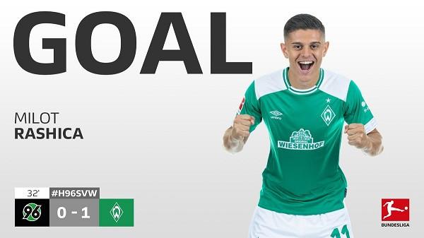 Rashica i jep epërsinë Werderit