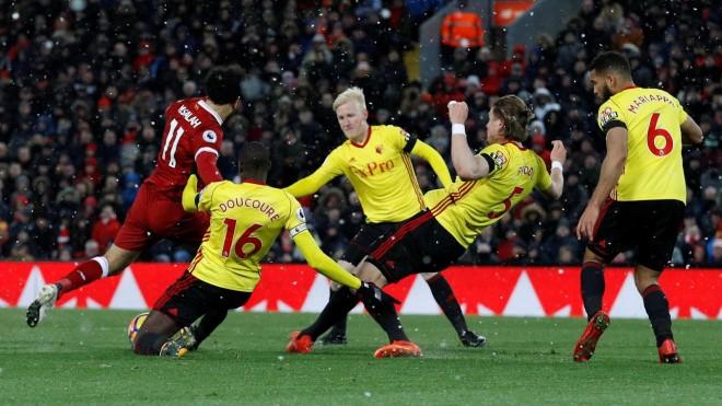 Mohamed Salah maestral në fitore