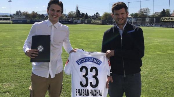 Dardan Shabanhaxhaj vazhdon me Sturm Grazin