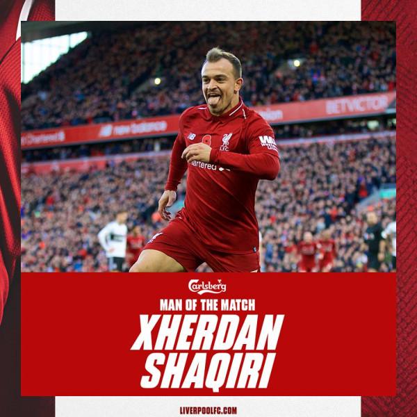 Xherdan Shaqiri më i miri në fitore