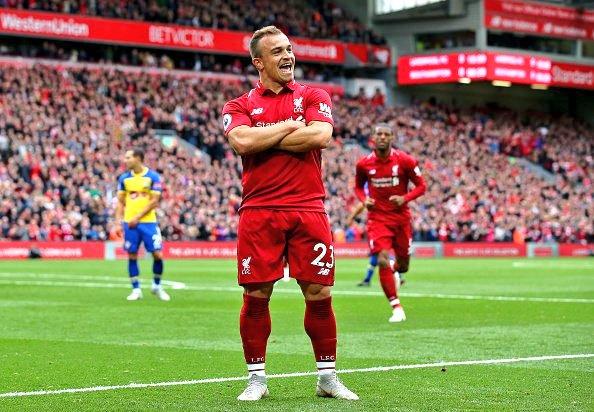 Shaqiri asiston, forma perfekte e Liverpoolit vazhdon