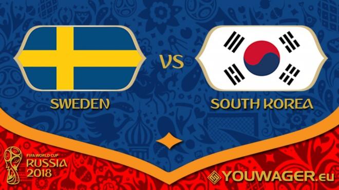 Suedia vs. Korea Jugore, formacionet startuese